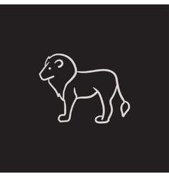 Lion sketch icon vector image