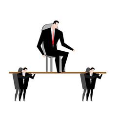 Office clerk carrying boss corporate ethics vector