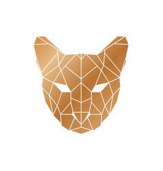 Polygonal puma head wild animal icon vector