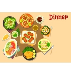 Popular appetizers icon for healthy food design vector