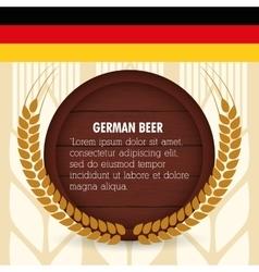 Premium quality german beer vector