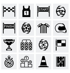 Racing icon set vector image