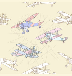 Seaml colors airplanes-14 vector