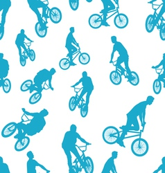 Seamless ride bicycle pattern background vector image vector image