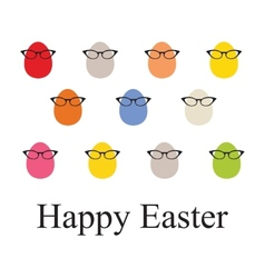 Set o Easter vintage eggs vector image
