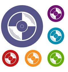 Vinyl record icons set vector