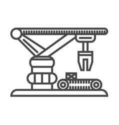 Warehouse crane linear icon vector