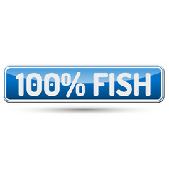 100 fish - abstract beautiful button with text vector
