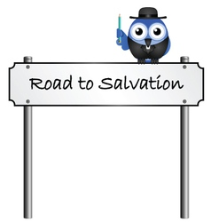 Road sign salvation vector