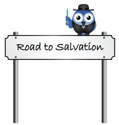 Road sign salvation vector