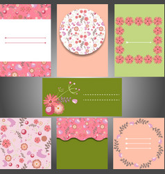 Set of templates for weddinginvitations cards vector