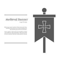 medieval logo emblem template black simple style vector image