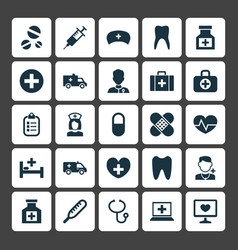 Antibiotic icons set collection of pellet vector
