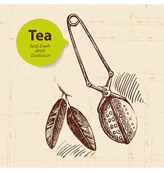 Tea vintage background vector