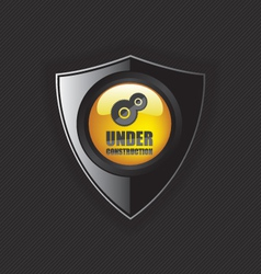 Under construction shields vector