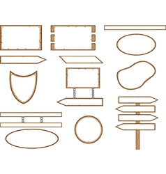 Wood shape signs vector image