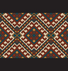 Traditional tribal aztec seamless pattern ornament vector