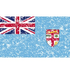 Flag of fiji with old texture vector