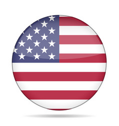 Button with usa flag vector