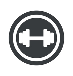 Round black barbell sign vector