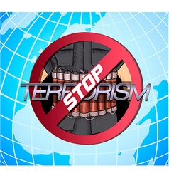 Poster against terrorism vector