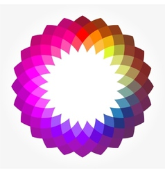 Abstract Digital Flower vector image vector image