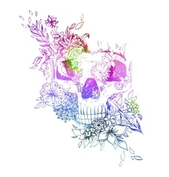 Abstract graphic skull print vector