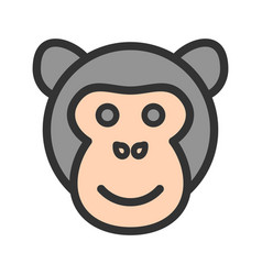 ape face vector image vector image
