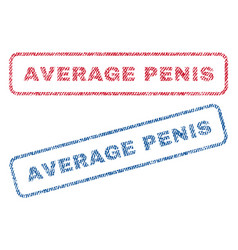 average penis textile stamps vector image vector image