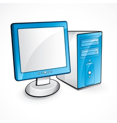 blue computer vector image vector image