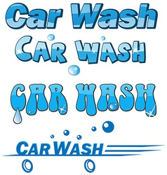 car wash symbol set vector image