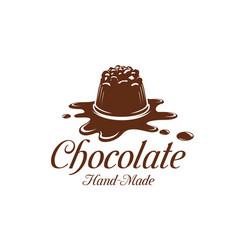 Chocolate cake dessert splash pastry icon vector