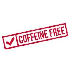 Coffeine free rubber stamp vector