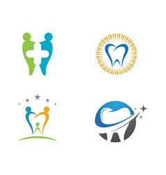Dental logo template icon design vector