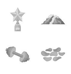 Education fitness and other monochrome icon in vector