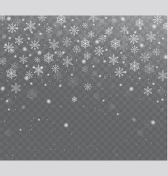 falling shining transparent snow vector image vector image