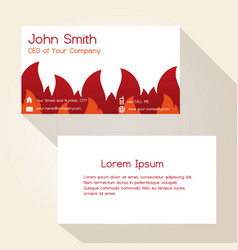 Fire brigade theme business card design eps10 vector