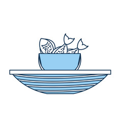 Fishing bucket with boat vector