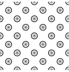 gear wheel pattern vector image