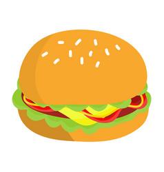 hamburger isolated vector image