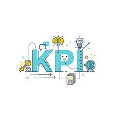 KPI Key Performance Indicator word vector image vector image