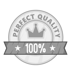 Label perfect quality one hundred percent icon vector