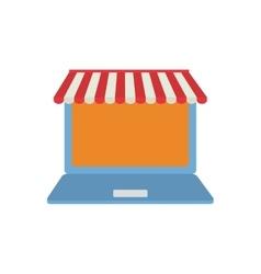 Laptop shopping online virtual technology vector