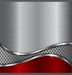 metal background with steel perforated wave vector image vector image