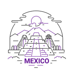 Mexico - modern line travel vector