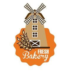 mill bakery design vector image