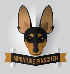 Miniature pinscher vector