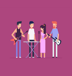 Musical band - modern flat design style isolated vector