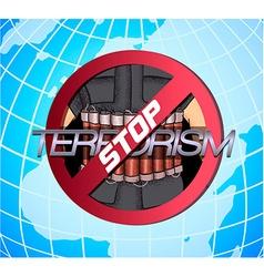 Poster against terrorism vector