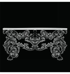 Rich Baroque Table vector image vector image